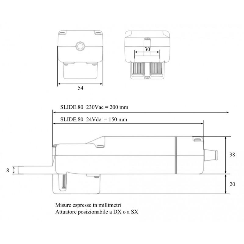 Slide 80 24Vdc Chiaroscuro Automation Kit for Sliding Shutters Max 160Kg