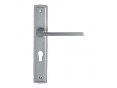 Slim Door Handle on Plate by Linea Calì