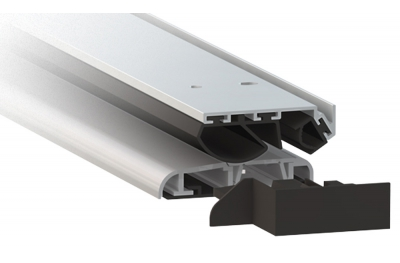 Anodized Silver Aluminium Threshold Comaglio 1375 Series Universal