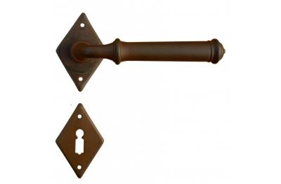 Tallin 3 Galbusera Door Handle with Rosette and Escutcheon Plate