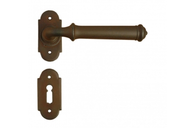 Tallin 4 Galbusera Door Handle with Rosette and Escutcheon Plate
