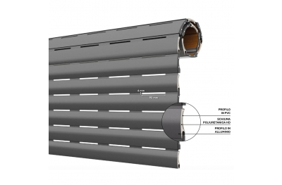 AriaLuceTherm PVC and Aluminum Insulated Shutter Space to Air and Light