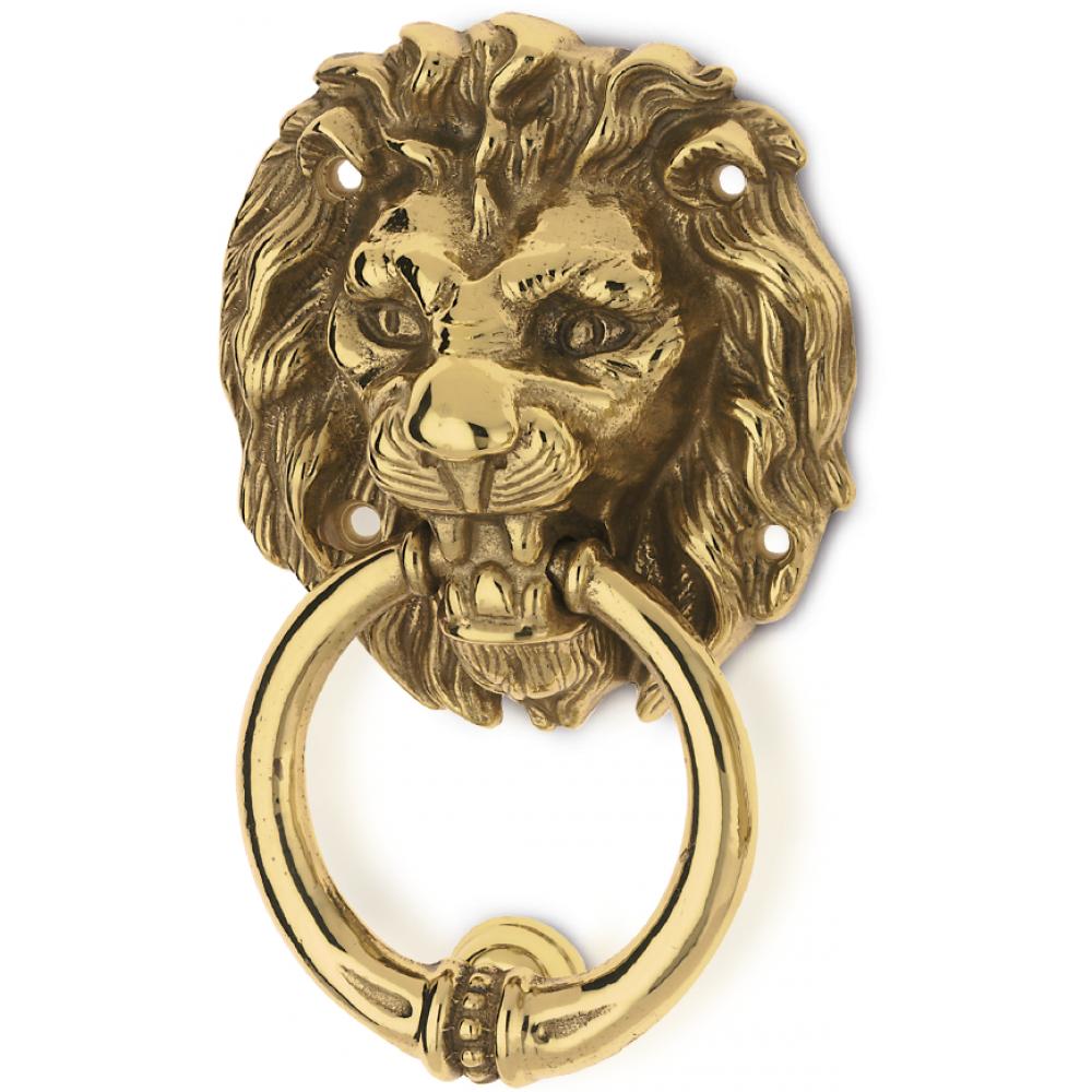 Lion Head Brass Knocker for Door PFS Pasini