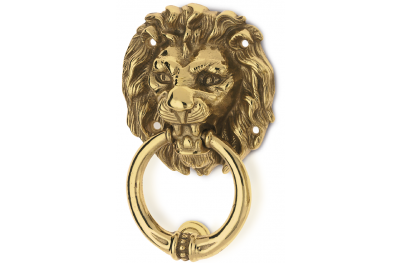 Lion Head Brass Knocker for Door PFS Pasini