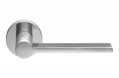 Tool Satin Chrome Door Handle on Rosette by Architect Michele De Lucchi for Colombo Design