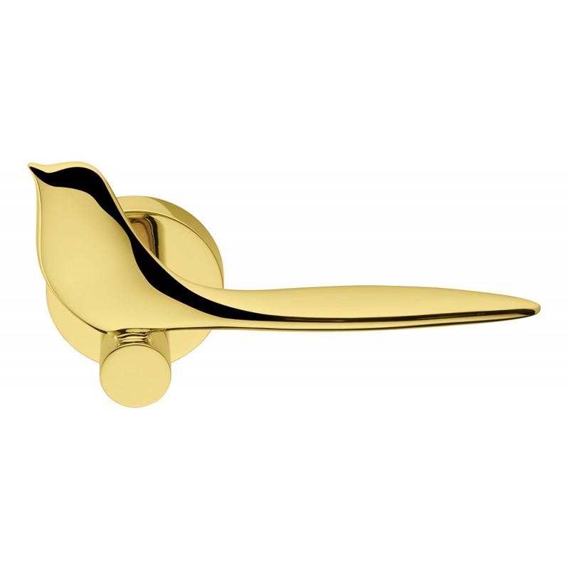 Twitty Polished Chrome Door Handle on Rosette Winner Colombo Design International Award