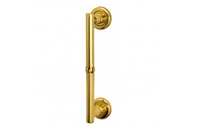 Vienna Straight Pull Handle With Roses With Screw Covers in Classic Style Not Passing Bal Becchetti