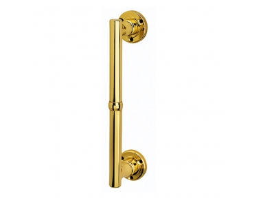 Vienna Straight Pull Handle With Roses Screws in View in Classic Style Not Passing Bal Becchetti