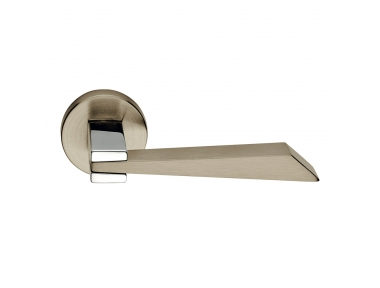 Wanda Series Fashion forme Door Handle on Round Rosette Frosio Bortolo With Different Materials