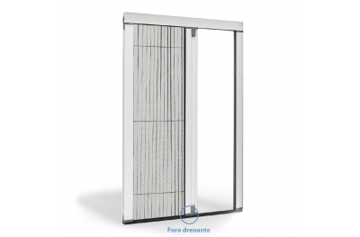Lateral Pleated Mosquito Net Single Door Friction Opening Circe
