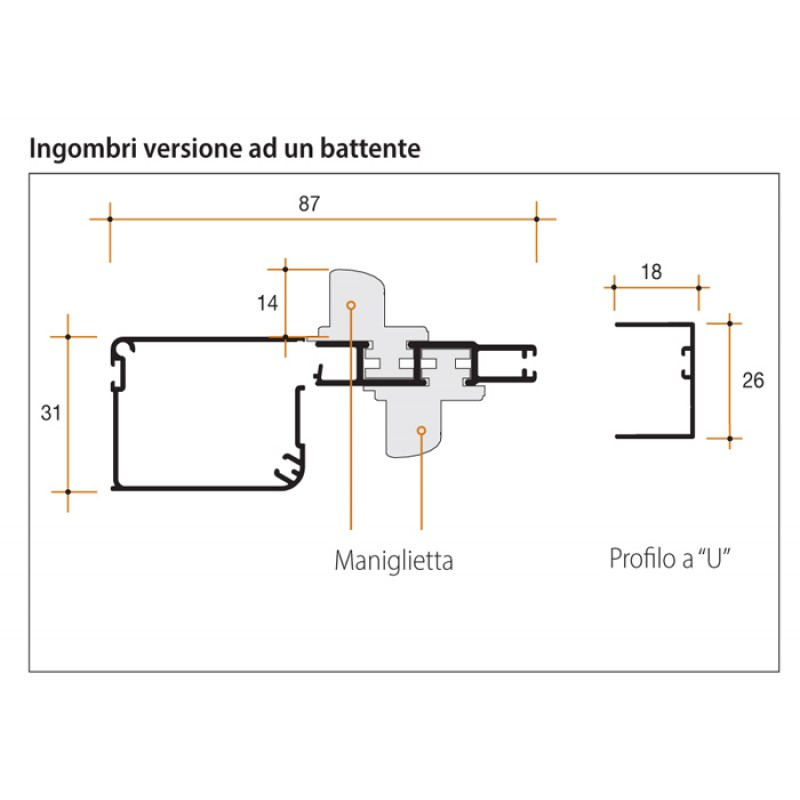 Mosquito Net Bettio Flash 1 Swing magnet 31 with windproof Side Guide