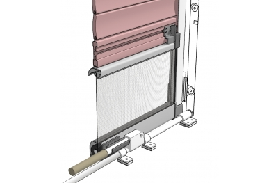 Mosquito Net Bettio Flip 3 for Blinds in Jut with Central Lever