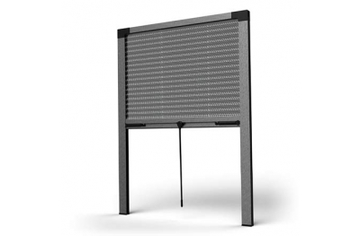 Pleated Window Flyscreen SharkNet SG Vertical Opening Without Bottom Guides
