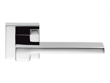 Zelda Polished Chrome Door Handle on Rosette by Designer Jean Marie Massaud for Colombo Design
